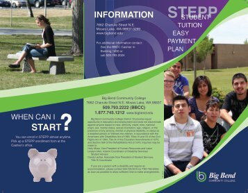 start information stepp - Admissions - Big Bend Community College