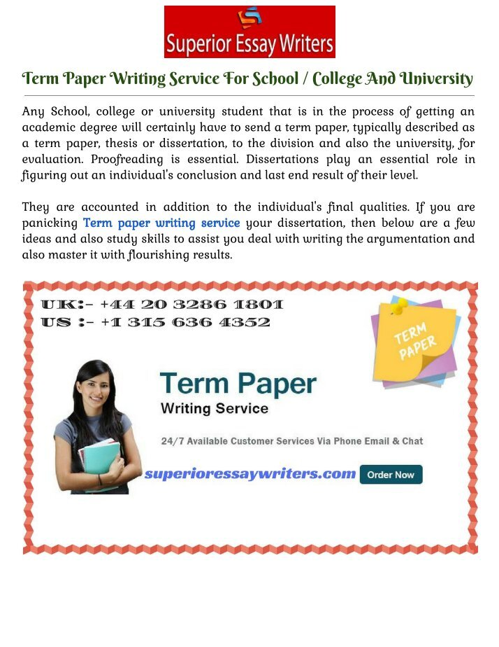 superior term paper When you are looking for term papers for sale, you will enjoy the affordable rates and quality services we offer.