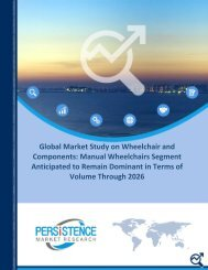 Wheelchair And Components Market Worth US$ 7,535.7 Million by 2026
