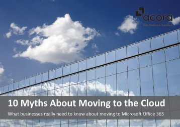 10 Myths About Moving to the Cloud