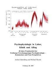 Psychophysiologie in Labor, Klinik und Alltag - Jochen Fahrenberg