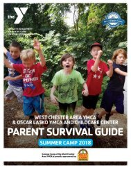 West Chester and Oscar Lasko YMCA - Parent Summer Camp Guide - 2018