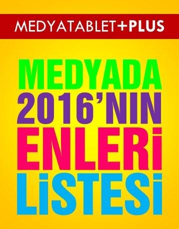 MEDYADA 2016'NIN ENLERİ LİSTESİ