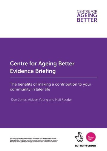 Centre for Ageing Better Evidence Briefing