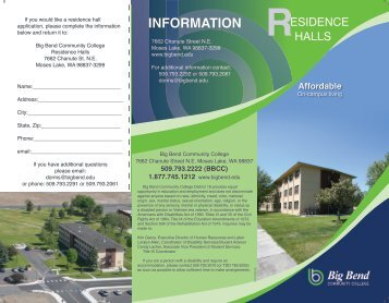 INFORMATION - Academics - Big Bend Community College