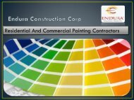Painting Contractors Los Angeles - Endura Construction Corp