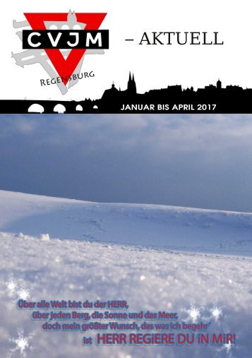 CVJM Regensburg - Aktuell 2017-01 Jan-April