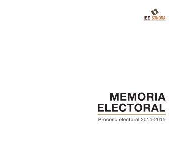 Memoria Electoral 2014-2015