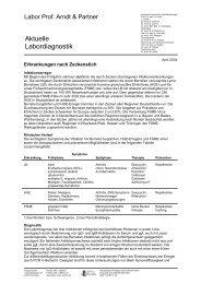 Erkrankungen nach Zeckenstich - Labor Lademannbogen