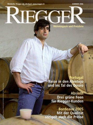 Weinmagazin und Preisliste - Weinkeller Riegger AG