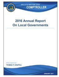 2016 Annual Report On Local Governments