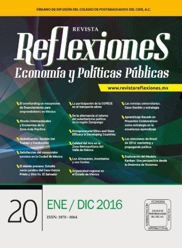 Revista Reflexiones. Economía y políticas públicas | Enero -Diciembre 2016