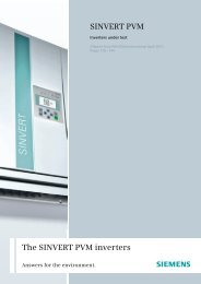 SINVERT PV inverter We make the sun your source of     - Siemens