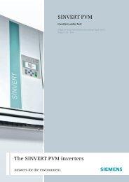 SINVERT PV inverter We make the sun your source of     - Siemens