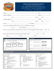 APPLICATION FOR EMPLOYMENT - Arnolds Park