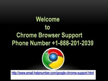 Google Chrome Support Number US +1-888-201-2039