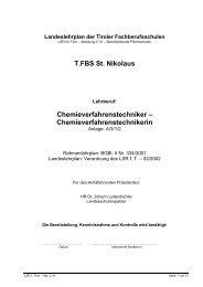 Chemieverfahrenstechnikerin - Tiroler Fachberufsschulen