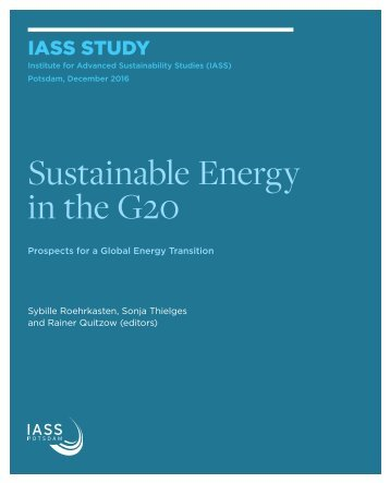 Sustainable Energy in the G20