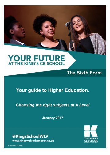 The Sixth Form Your guide to Higher Education
