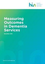 Measuring Outcomes in Dementia Services