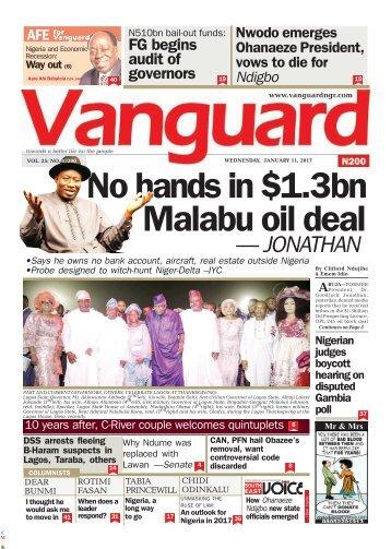 11012017 No hands in .3bn Malabu oil deal - JONATHAN