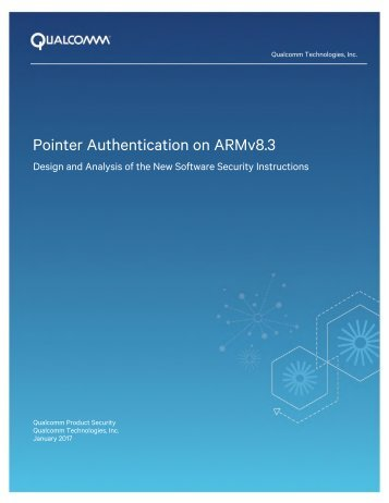 Pointer Authentication on ARMv8.3