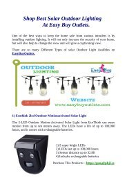 Shop Best Solar Outdoor Lighting At Easy Buy Outlets