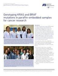 Genotyping KRAS and BRAF mutations in paraffin ... - Invitrogen