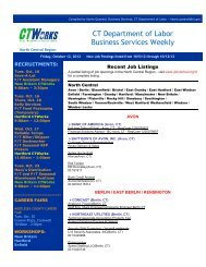 Business Services Weekly Connecticut Department Of Labor