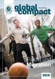 Jahrbuch Global Compact Deutschland 2016: Migration und Flucht im Fokus
