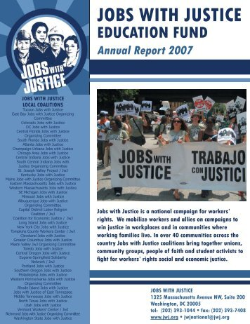 2007 Annual Report - Jobs With Justice