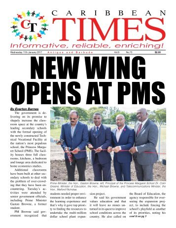 Caribbean Times 73rd Issue - Wednesday 11th January 2017