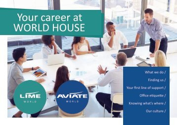 Your Career at World House