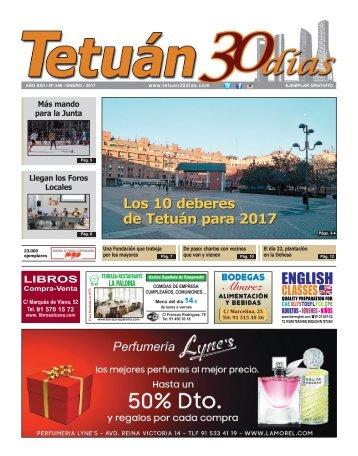 Los 10 deberes de Tetuán para 2017