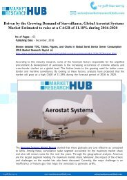 Global Aerostat Systems Market Report 2020