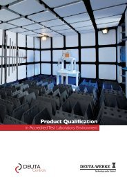 Product Qualification Service - Deuta-Werke