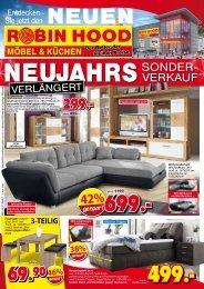 Verlängert: der Neujahrs-Sonderverkauf bei Robin Hood Möbel & Küchen in 78166 Donaueschingen