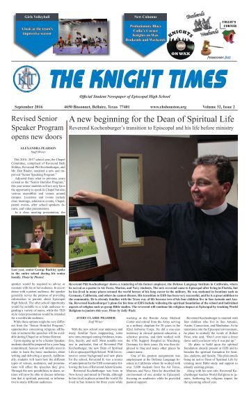 THE KNIGHT TIMES - September 2016