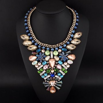 colors crystal necklace 05