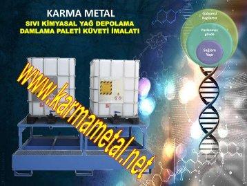 kimyasal damlama akma toplama paleti kuveti tavasi kabi KARMA METAL