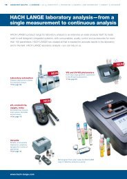 HACH LANGE laboratory analysis—from a single measurement to ...