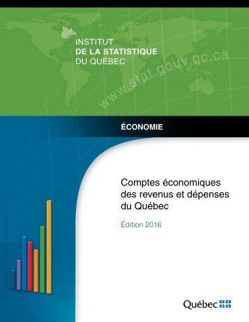 Comptes économiques des revenus et dépenses du Québec