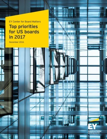 Top priorities for US boards in 2017