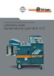 Laboratory-scale foamed bitumen plant WLB 10 S - Wirtgen GmbH