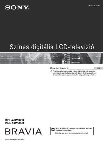 Sony KDL-46W2000 - KDL-46W2000 Istruzioni per l'uso Ungherese