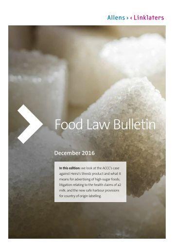 Food Law Bulletin