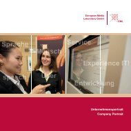 EML Firmenportrait - EML European Media Laboratory GmbH