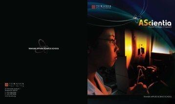 pg 0 cover - School of Applied Science - Temasek Polytechnic