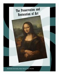 The Preservation and Restoration of Art - the Scientia Review
