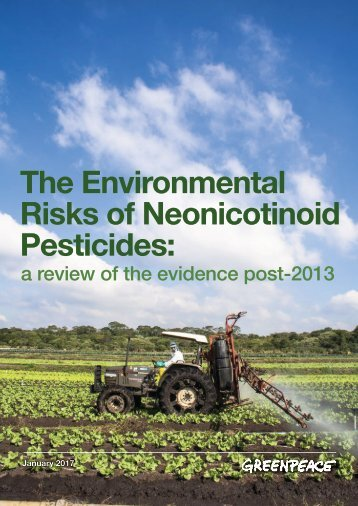 Risks of Neonicotinoid Pesticides